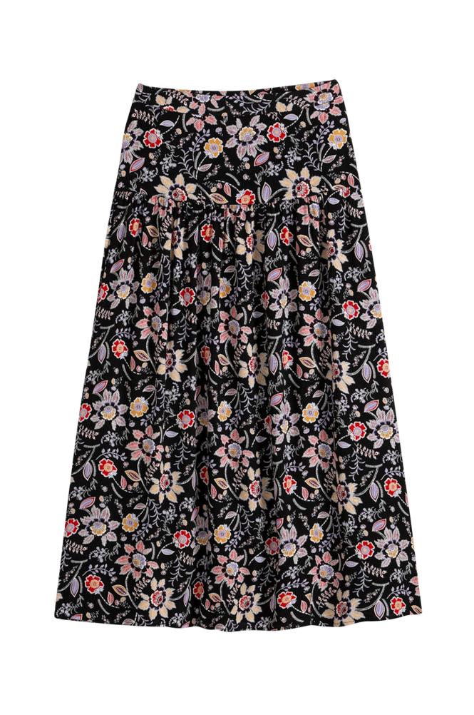 La Redoute Lang, A-formet nederdel med blomstermønster