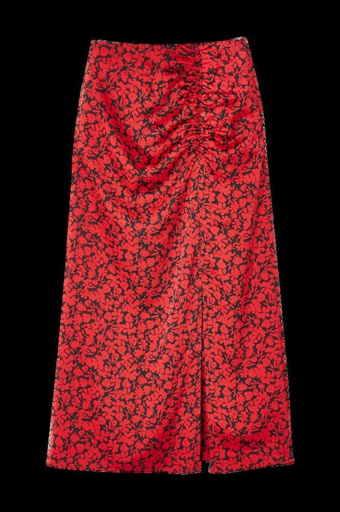 La Redoute Lang, blomstret nederdel med stram pasform