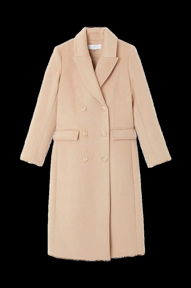 La Redoute Lang frakke med genindvundet uld