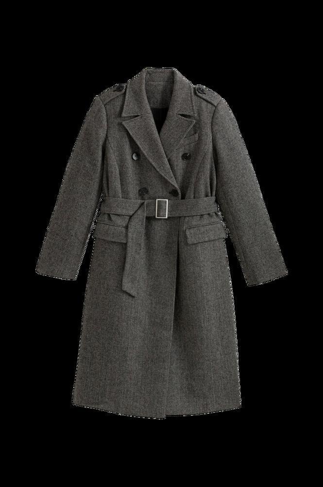 La Redoute Lang, dobbeltradet frakke med sildebensmønster