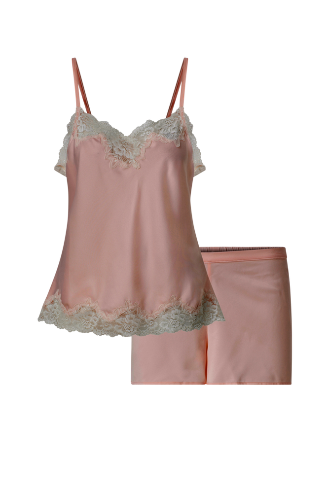 Lauren Ralph Lauren Pyjamas LRL Signature Lace Cami Top Set