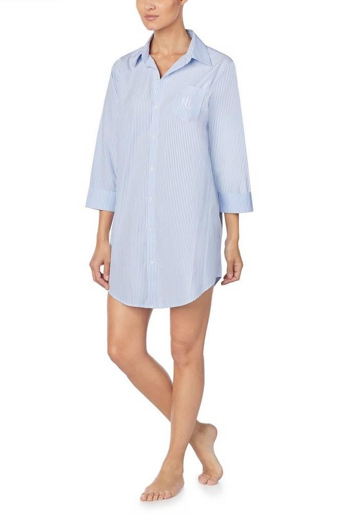 Lauren Ralph Lauren Natskjorte LRL Heritage Ess 3/4 Sl Sleepshirt