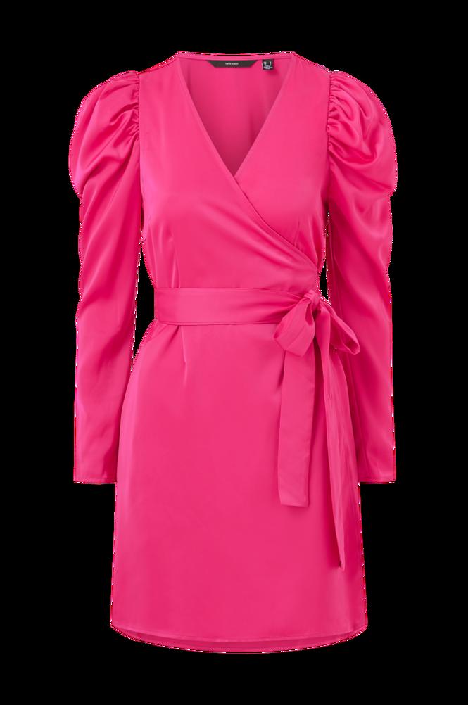 Vero Moda Slå om-kjole vmJuva L/S Wrap Short Dress