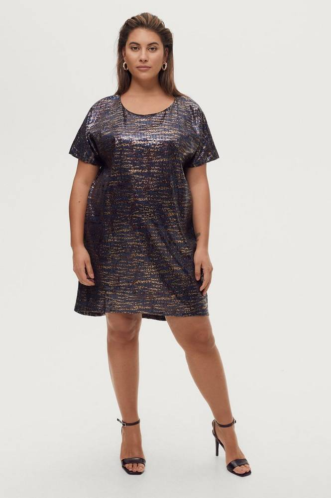 Zizzi Pailletkjole eAliya S/S Dress
