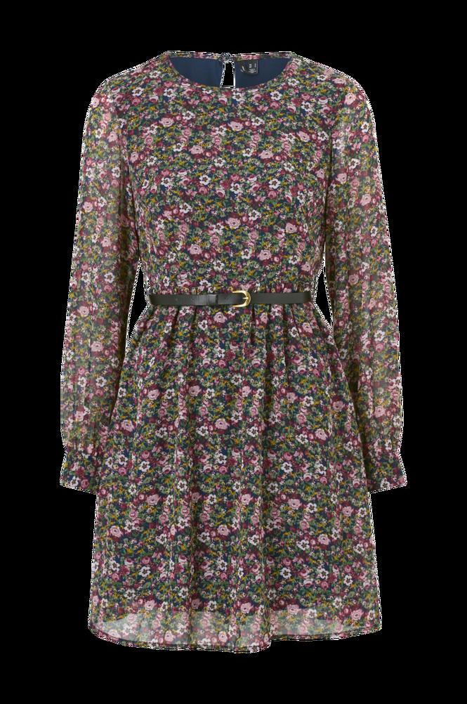 Vero Moda Kjole vmPrinty L/S Belt Short Dress