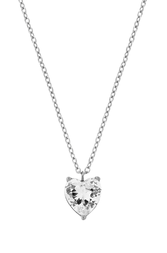 Edblad Halskæde Timeless Heart Necklace Steel