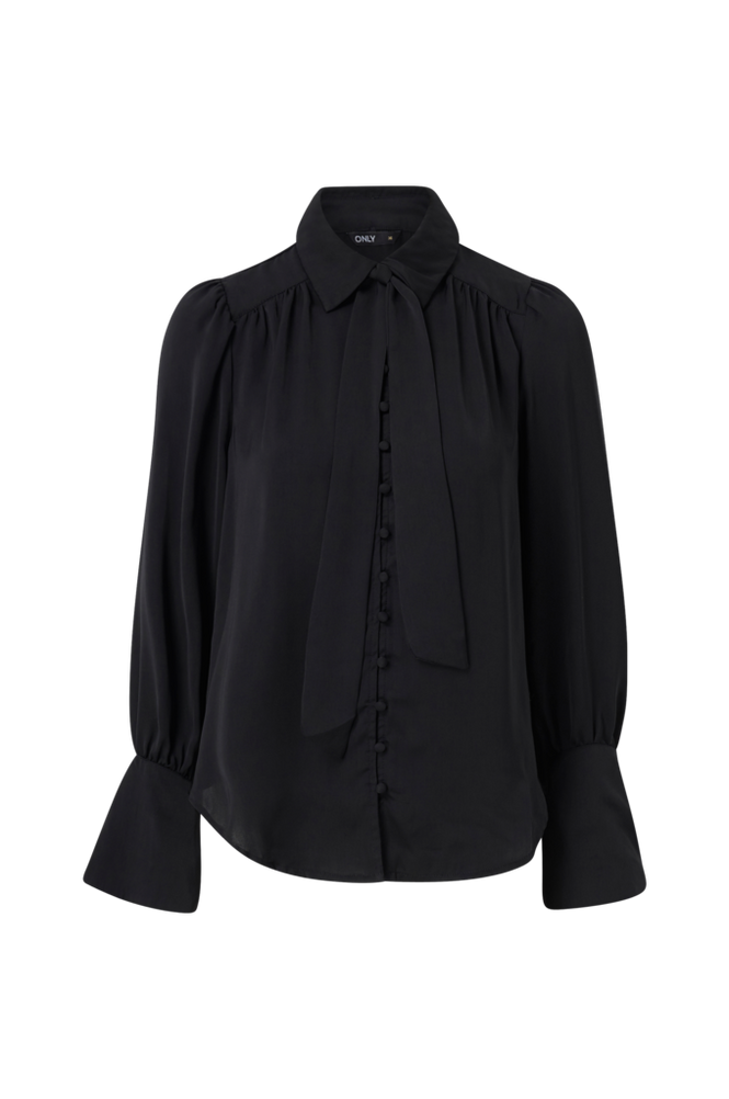 Only Bluse onlEvelyn L/S Bow Tie Shirt Wvn