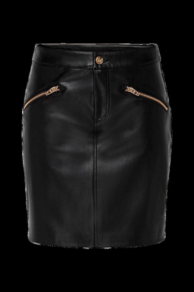 Only Nederdel onlHeide Faux Leather Skirt