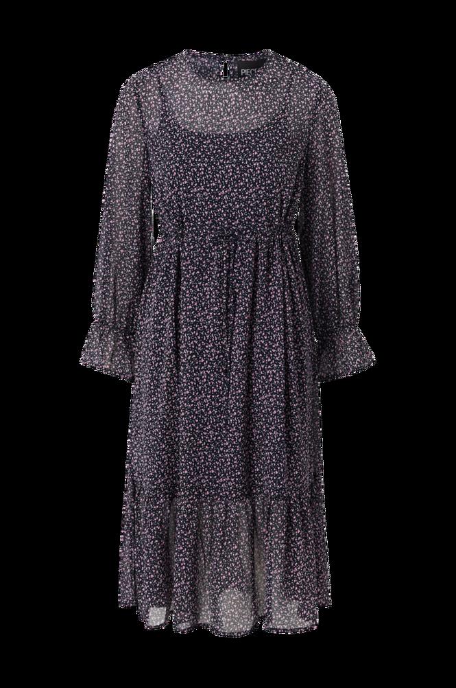 Pieces Kjole pcMisty LS Midi Dress
