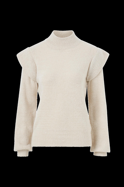 Object - Tröja objManni LS Knit Pullover - Natur