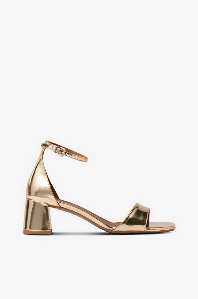 billi bi Guldfarvet sandal