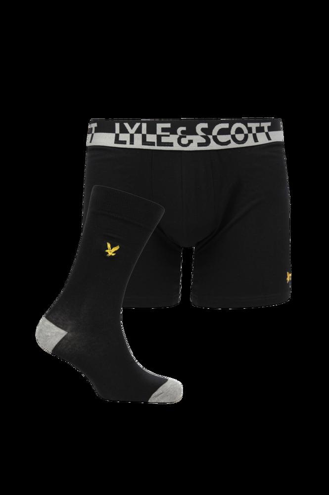 Lyle & Scott Trunk and Sock Gift Set, underbukser og strømper