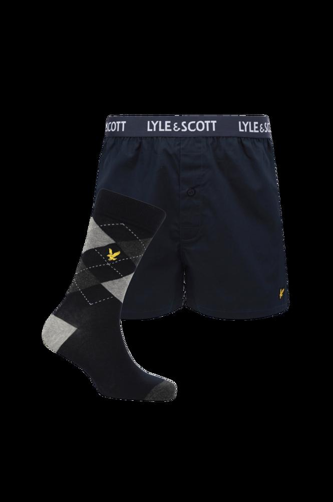 Lyle & Scott Sæt Jonas Boxer and Sock Pack, underbukser og strømper
