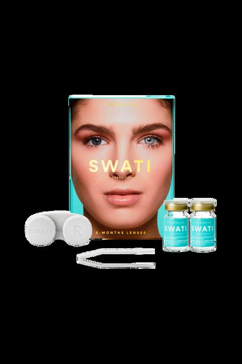 Turquoise 6-månaders kosmetiska linser