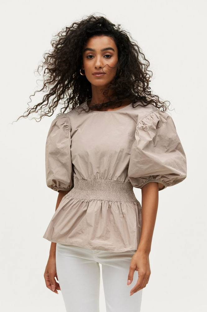 Gina Tricot Bluse Tracee Puff Sleeve Blouse