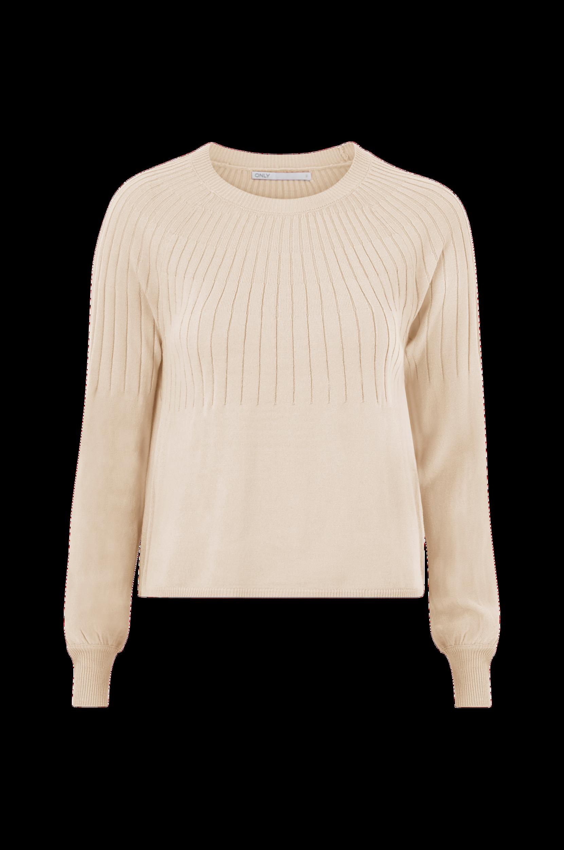 Only - Tröja onlAmalia L/S Pullover CC Knt - Natur