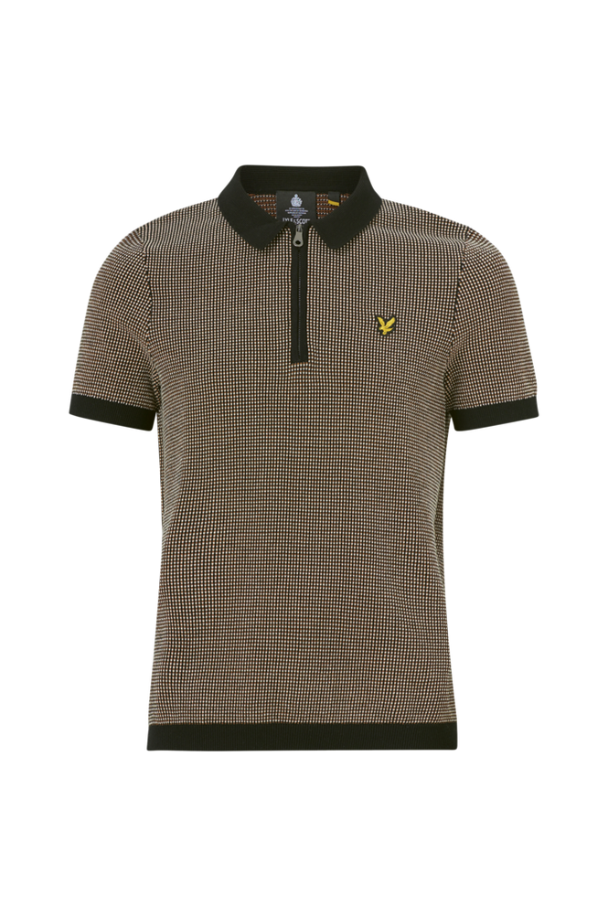 Se Lyle & Scott T-shirt Micro Repeat Jacquard Knitted Polo ved Ellos