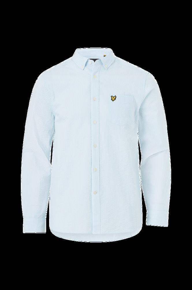 Lyle & Scott Skjorte Seersucker Stripe Shirt