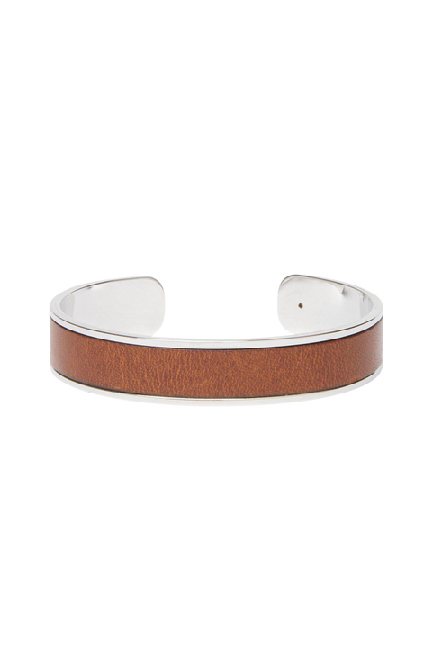 Armband med läderdetaljer