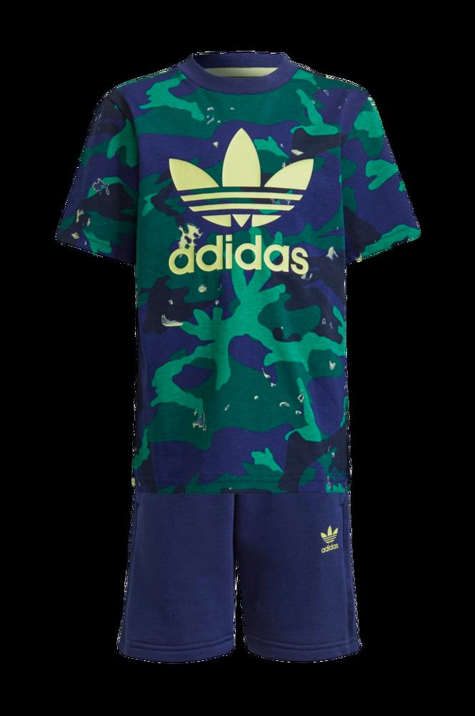 adidas Originals Sæt Allover Print Camo Shorts And Tee Set