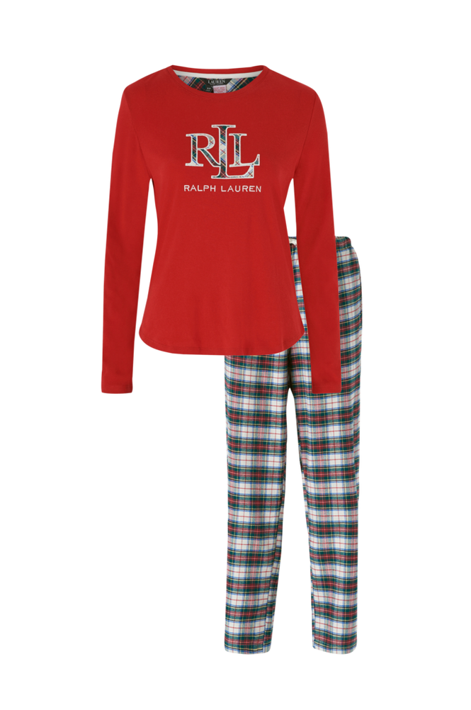 Lauren Ralph Lauren Pyjamas Knit Top Long Pant PJ