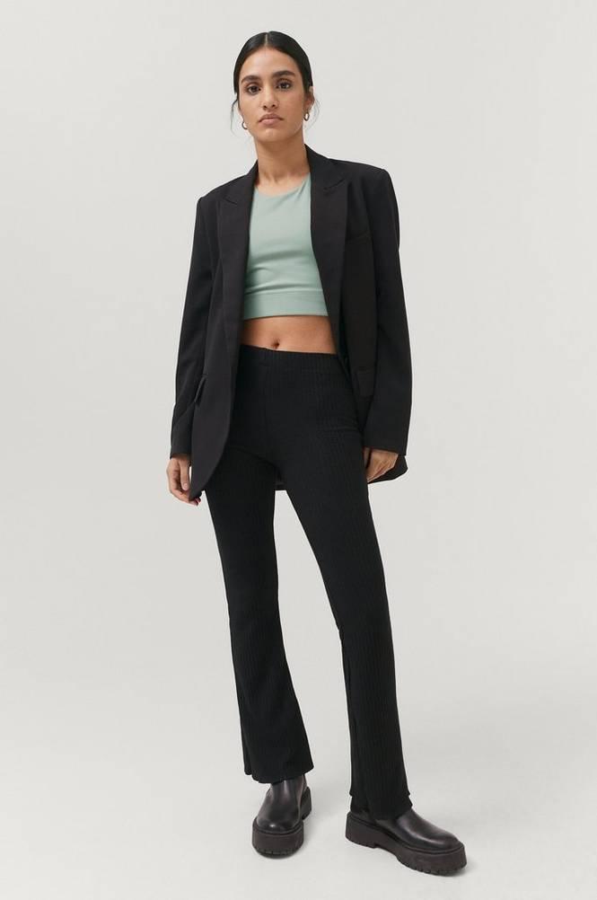 Gina Tricot Bukser Beata Petite Rib Trousers
