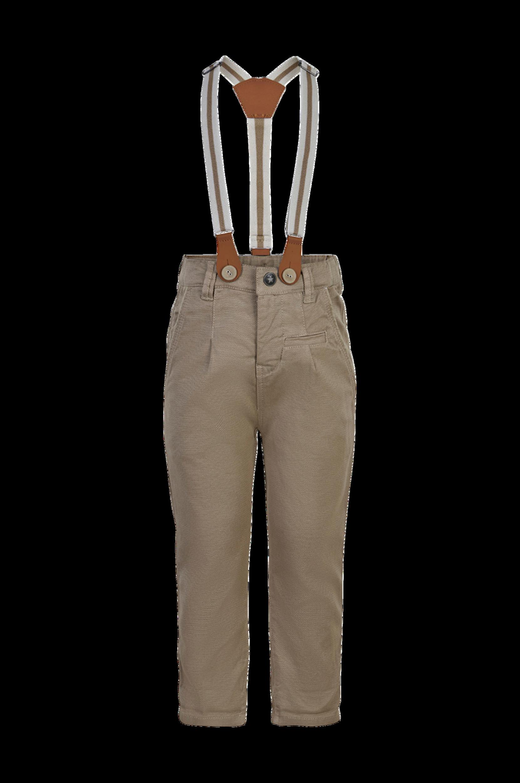 EN FANT - Byxor Pants Woven w/ Suspenders - Natur