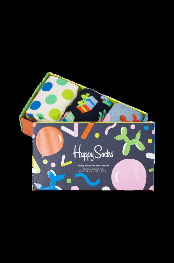 Happy Socks Gaveæske Happy Birthday Socks Gift Set 3-pak