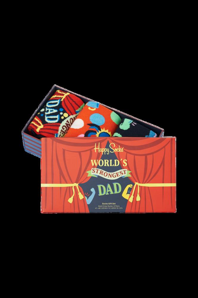 Happy Socks Strømper 3-Pak Father's Day Socks Gift Set