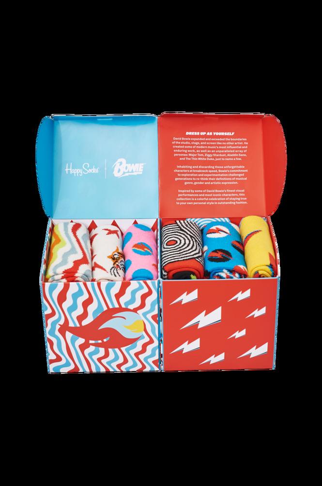 Se Happy Socks Strømper Bowie Gift Set 6-pak ved Ellos