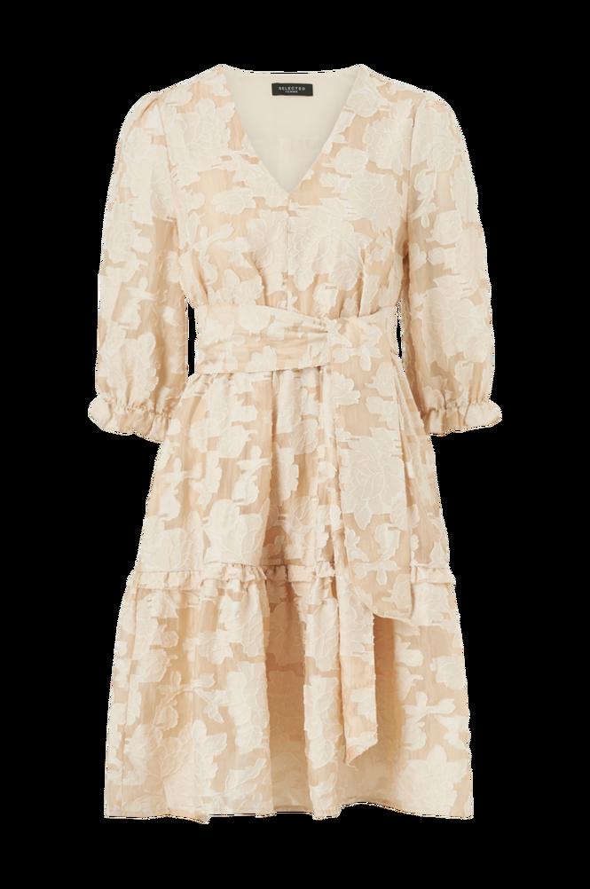 Selected Femme Kjole slfSadie V-neck 3/4 Short Dress