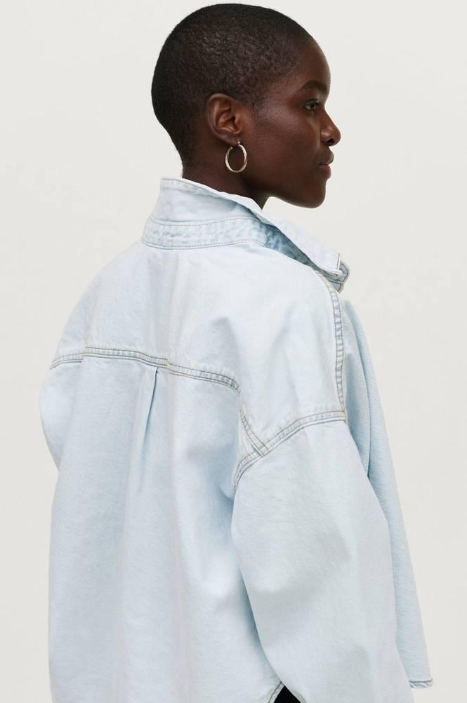 Gina Tricot Cowboyskjorte Cropped Denim Shirt