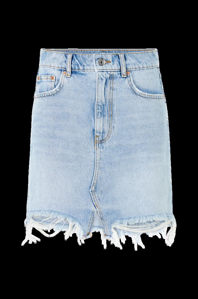 Se Gina Tricot Cowboynederdel Original Denim Skirt ved Ellos