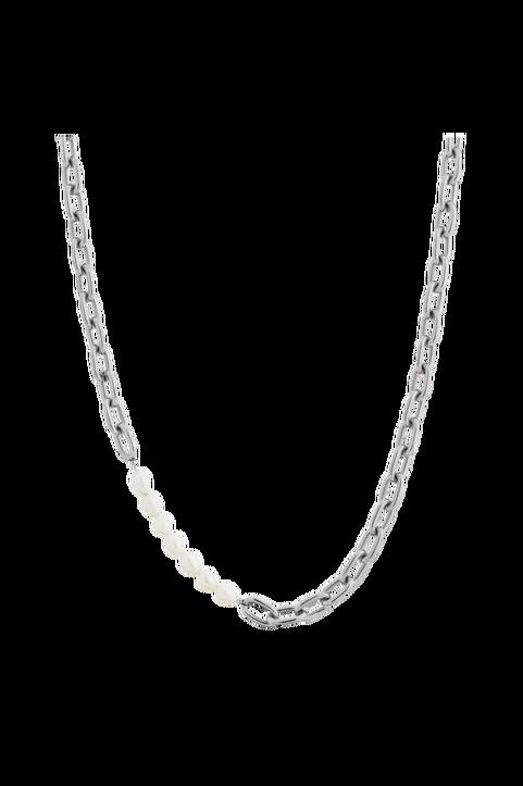 Halsband Trellis Pearl Necklace Steel