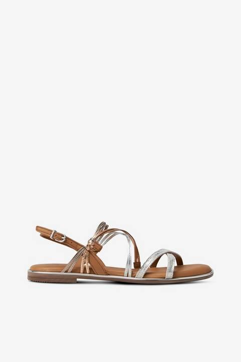 Sandaler med skimrande remmar