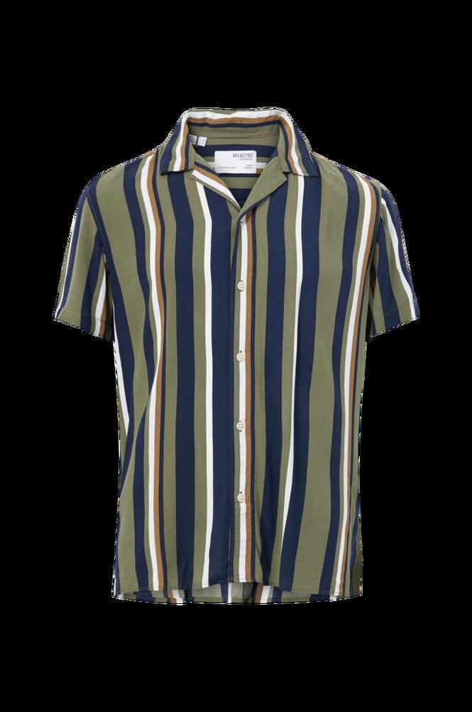 Selected Homme Skjorte slhRegMichael Shirt SS Stripes W