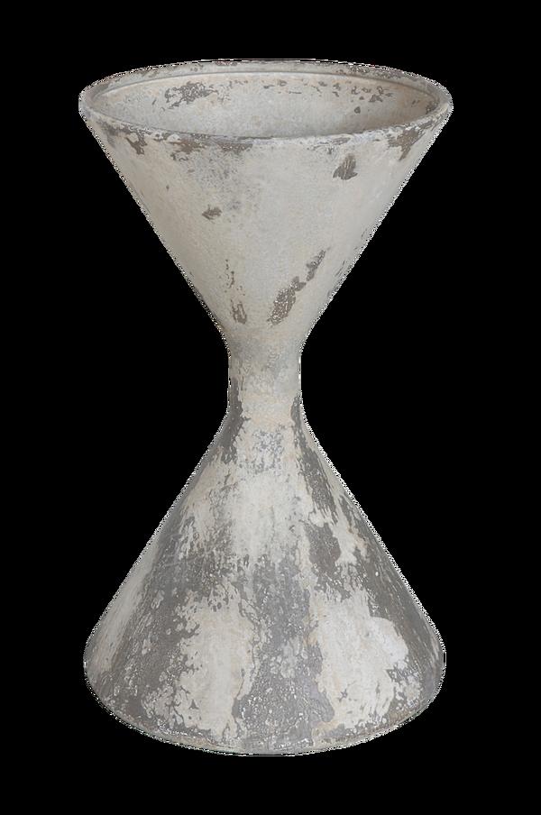 Bilde av Blomsterpotte, Hvit, Metall - 30151