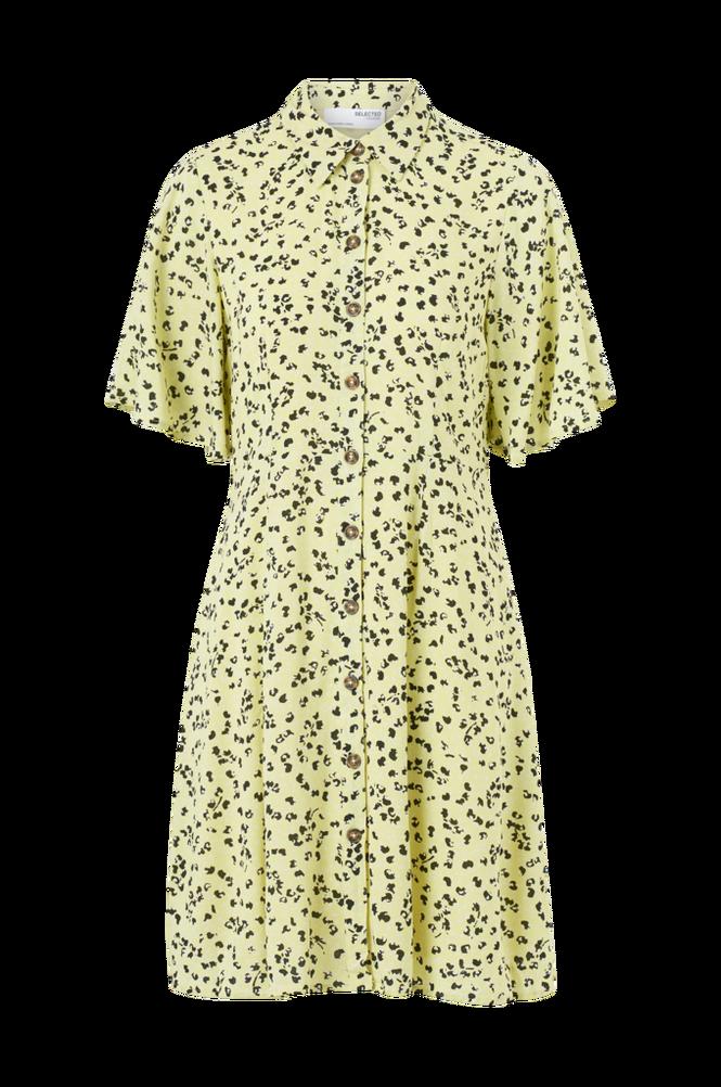 Selected Femme Skjortekjole slfUma 2/4 Short Aop Shirt Dress M
