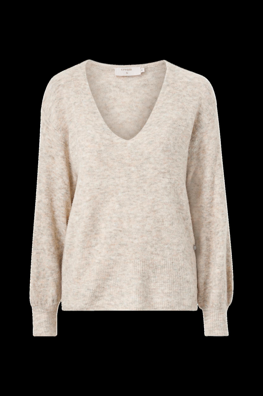 Cream - Tröja crMerle V-Neck Pullover - Natur
