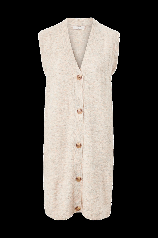 Cream - Cardigan crMerle Long Slipover - Natur