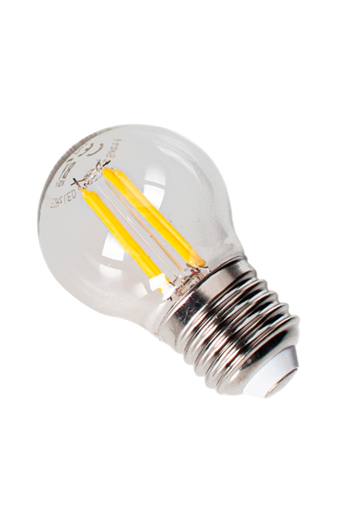Filament dekorationslampa LED dimbar klot E27 4W Ø 45 mm amber