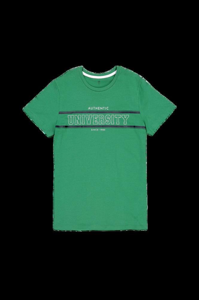 La Redoute T-shirt med rund halsudskæring og print, økologisk bomuld