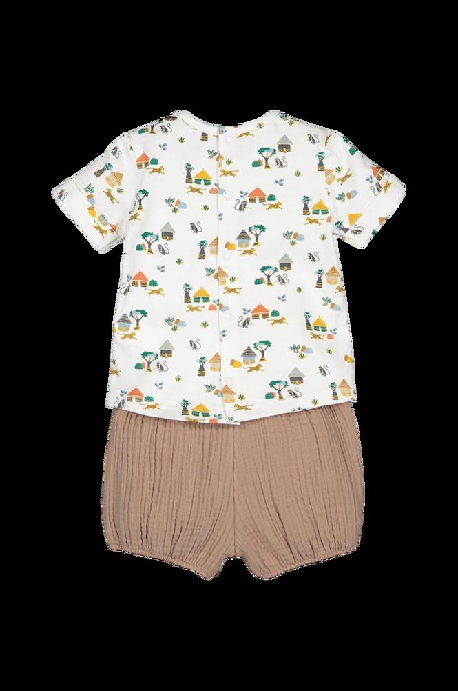 La Redoute Sæt med trøje og shorts