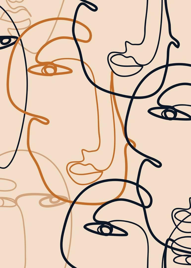 Malerifabrikken - Poster Abstract Lines 1 - Natur