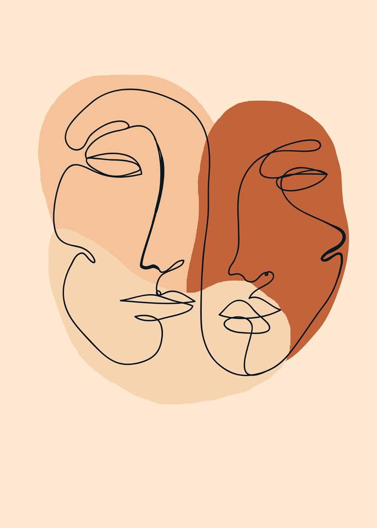 Malerifabrikken - Poster Abstract Lines 2 - Natur