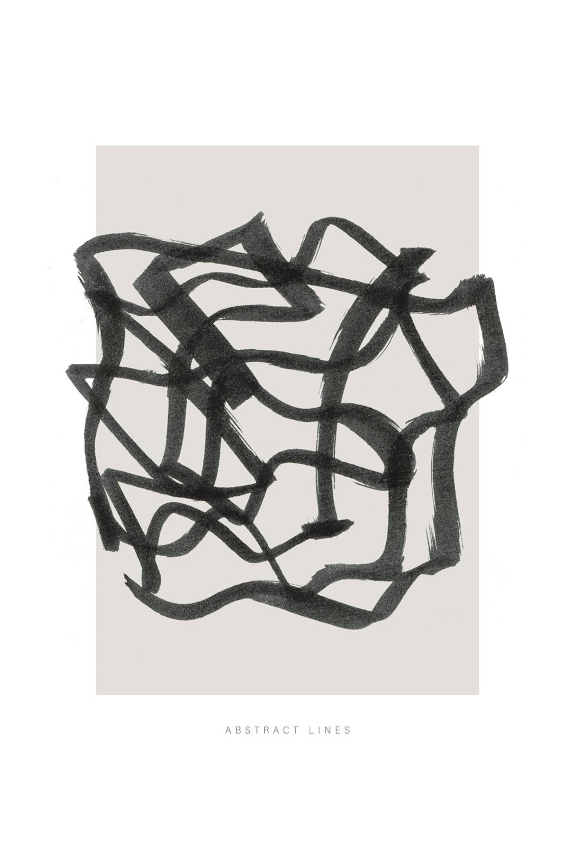 Malerifabrikken - Poster Lines 1 - Natur