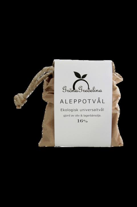 Aleppotvål 16%.