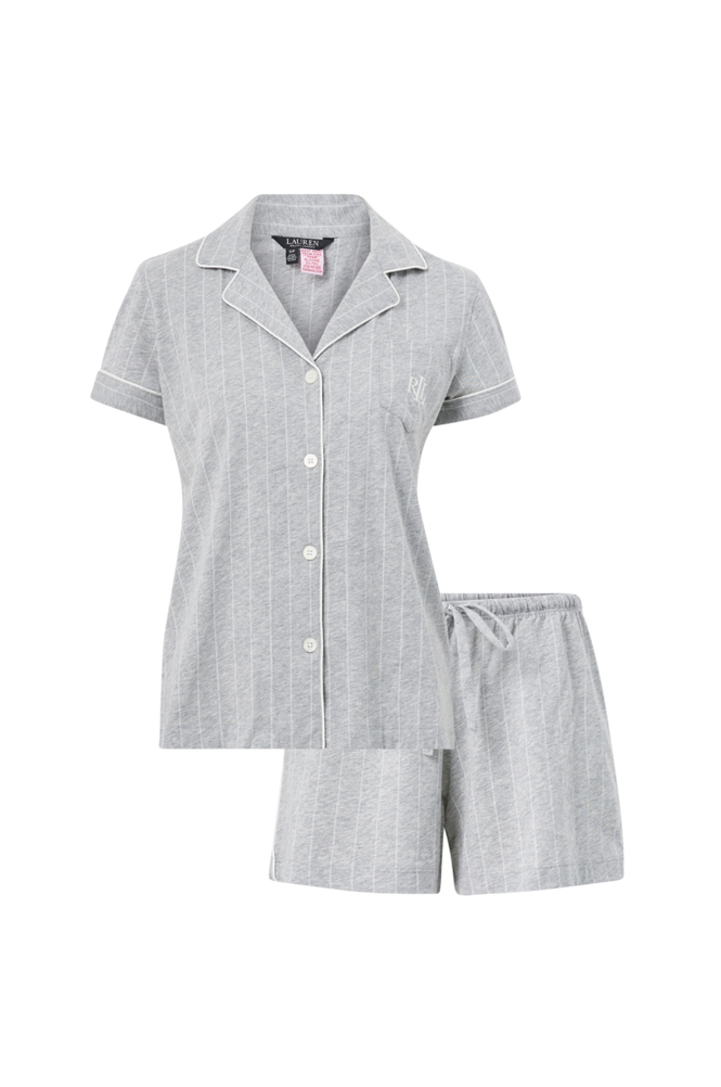 Lauren Ralph Lauren Pyjamas Notch Collar Boxer PJ Set