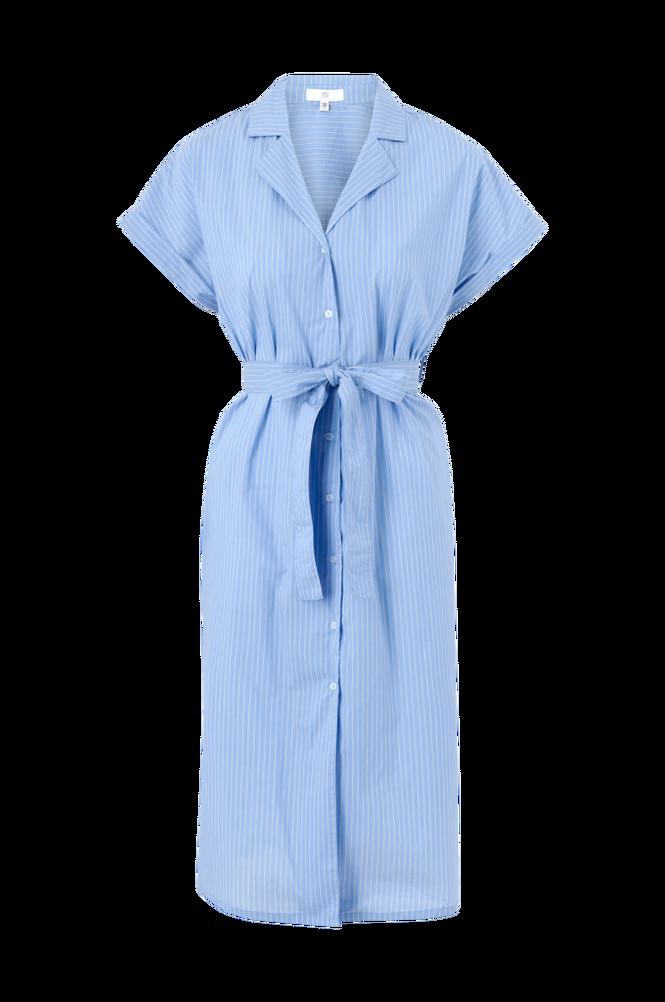 La Redoute Stribet skjortekjole i ventemodel med kort ærme