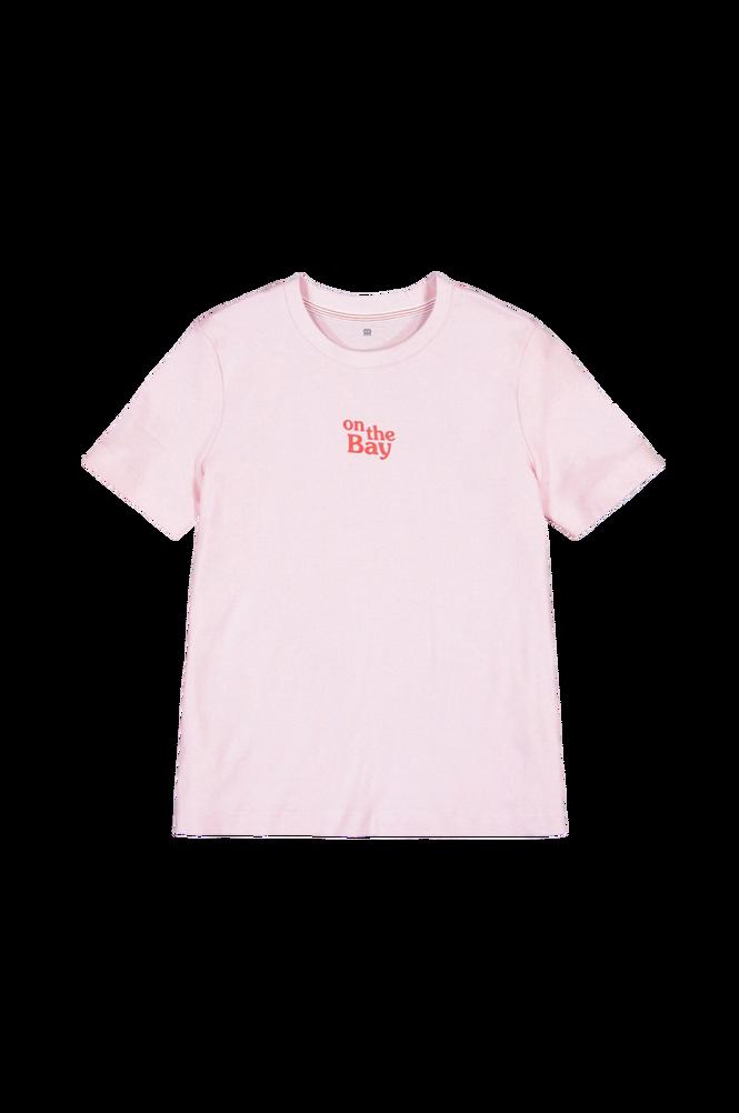 La Redoute T-shirt med rund halsudskæring og tekstmotiv, økologisk bomuld
